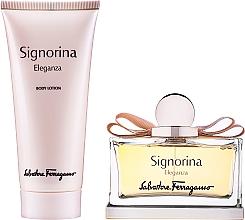 Parfums et Produits cosmétiques Salvatore Ferragamo Signorina Eleganza - Coffret (eau de parfum/100ml + lait pour le corps/100ml)