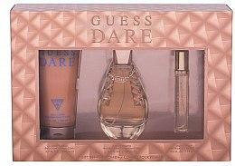 Parfums et Produits cosmétiques Guess Dare - Coffret cadeau (eau de toilette/100ml + eau de toilette/15ml + lotion corps/200ml)