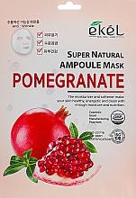 Parfums et Produits cosmétiques Masque tissu à l'extrait de grenade pour visage - Ekel Super Natural Ampoule Pomegrante