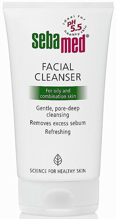Nettoyant à l'extrait d'hamamélis de Virginie pour visage - Sebamed Facial Cleanser For Oily And Combination Skin — Photo N1