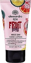 Parfums et Produits cosmétiques Lotion à l'acide hyaluronique et caviar pour mains - Alessandro International Spa Fruit Bomb Hand Lotion