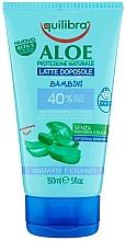 Parfums et Produits cosmétiques Lait après-soleil à l'aloe vera pour corps - Equilibra Aloe Vera After Sun Milk Moisturizing and Calming For Kids