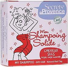 Parfums et Produits cosmétiques Shampooing solide à l'argile rouge naturelle pour cheveux secs - Secrets De Provence My Shampoo Natural Red Clay