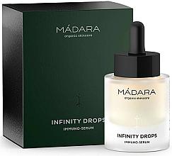 Parfums et Produits cosmétiques Sérum immunitaire à l'acide hyaluronique pour visage et décolleté - Madara Cosmetics Infinity Drops Immuno-Serum