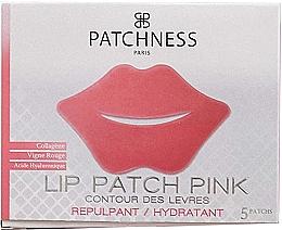 Parfums et Produits cosmétiques Patchs hydratants à l'extrait de raisin rouge pour contour des lèvres, 5 pcs - Patchness Lip Patch Pink