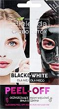 Parfums et Produits cosmétiques Masque peel-off au charbon actif pour visage (homme & femme) - Bielenda Carbo Detox Black & White Mask
