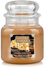 Parfums et Produits cosmétiques Bougie parfumée en jarre, Chocolat et Caramel - Country Candle Caramel Chocolate