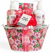 Parfums et Produits cosmétiques Coffret cadeau - IDC Institute Royal Garden (sh/g/250ml+b/lot/250ml+salt/100g+sponge)