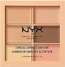 Parfums et Produits cosmétiques Palette correctrice anti-cernes et contour - Nyx Palette Conceal Correct Contour