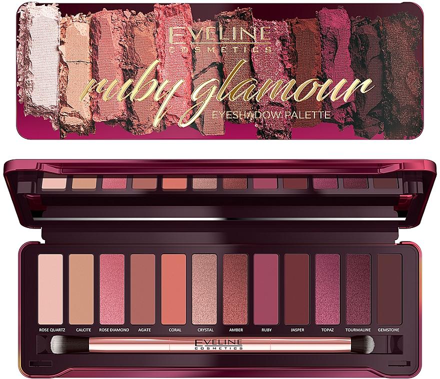 Palette de fards à paupières - Eveline Cosmetics Ruby Glamour Eyeshadow Palette