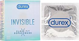 Parfums et Produits cosmétiques Préservatifs, 3 pcs - Durex Invisible Close Fit