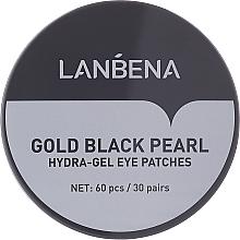 Parfums et Produits cosmétiques Patchs hydrogel à la perle noire pour contour des yeux - Lanbena Gold Black Pearl Collagen Eye Patch