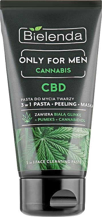 Pâte nettoyante visage pour hommes - Bielenda Only For Men 3in1 Face Cleansing Paste