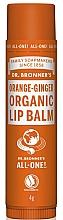 Parfums et Produits cosmétiques Baume à lèvres bio à l'huile d'orange douce et gingembre - Dr. Bronner's Orange & Ginger Lip Balm