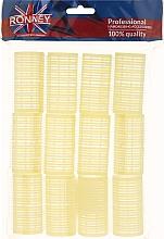 Parfums et Produits cosmétiques Rouleaux à cheveux 32/63, jaune - Ronney Professional Velcro Roller