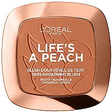 Parfums et Produits cosmétiques Blush doux réveil de teint - L'Oreal Paris Life's A Peach Blush