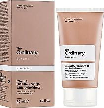 Parfums et Produits cosmétiques Crème solaire à l'huile de tournesol pour visage - The Ordinary Suncare Mineral UV Filters SPF30 Antioxidants