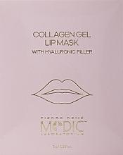 Parfums et Produits cosmétiques Masque hydrogel à l'acide hyaluronique pour lèvres - Pierre Rene Medic Collagen Gel Lip Mask