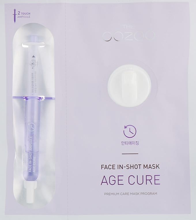 Masque tissu avec ampoule liftante pour visage - The Oozoo Face Face In-Shot Mask Age Cure — Photo N1