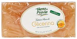 Parfums et Produits cosmétiques Heno De Pravia Glycerin - Lot (savon/3x125g)