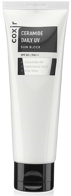Crème solaire à l'acide hyaluronique et céramides pour visage - Coxir Ceramide Daily UV Sun Block