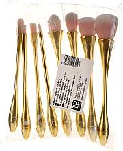 Parfums et Produits cosmétiques Kit pinceaux de maquillage professionnels, or-rose, 8 pcs - Tools For Beauty