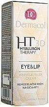 Parfums et Produits cosmétiques Crème à l'acide hyaluronique pour le contour des yeux et des lèvres - Dermacol Hyaluron Therapy 3D Eye and Lip Wrinkle Filler Cream