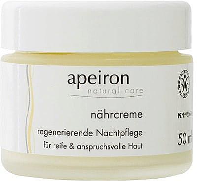 Crème de nuit à l'huile de bourrache et Q 10 - Apeiron Nourishing Regenerating Night Cream — Photo N1