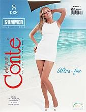 Parfums et Produits cosmétiques Collant pour femme, Summer, 8 Den, bronz - Conte