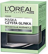 Parfums et Produits cosmétiques Masque détoxifiant à l'argile et charbon actif pour visage - L'Oreal Paris Skin Expert