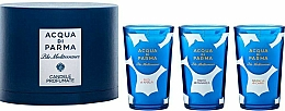 Parfums et Produits cosmétiques Acqua di Parma Blu Mediterraneo - Coffret (bougie en verre/3x65g)