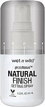 Parfums et Produits cosmétiques Spray fixateur de maquillage - Wet N Wild Photofocus Natural Finish Setting Spray