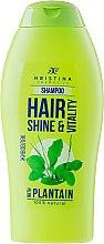 Parfums et Produits cosmétiques Shampooing fortifiant au plantain - Hristina Cosmetics Hair Shine & Vitality With Plantain Shampoo