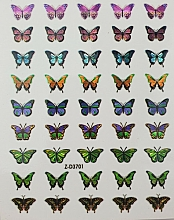 Parfums et Produits cosmétiques Autocollants pour ongles, Papilloons colorés, 0086 - Deni Carte