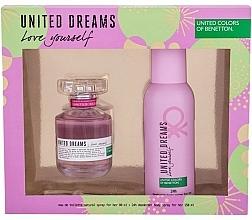 Parfums et Produits cosmétiques Benetton United Dreams Love Yourself - Set (eau de toilette/80ml + déodorant spray/150ml)