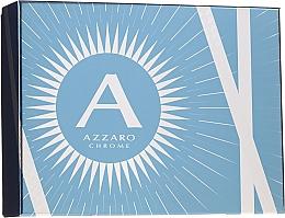 Parfums et Produits cosmétiques Azzaro Chrome - Coffret (eau de toilette/100ml + shampooing/100ml + baume après-rasage/50ml)