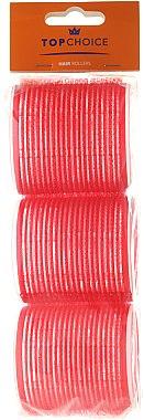 Rouleaux à cheveux, 60mm, 3pcs, 0607, rouge - Top Choice