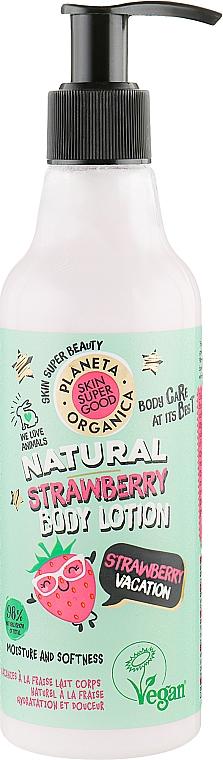 Lait à la fraise pour corps - Planeta Organica Natural Body Lotion Strawberry Vacation