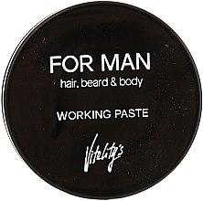 Parfums et Produits cosmétiques Pâte matifiante à l'extrait de thé vert pour cheveux, barbe et corps - Vitality's For Man Working Paste