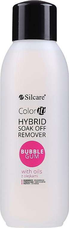 Dissolvant pour vernis semi-permanent - Silcare Soak Off Remover Bubble Gum