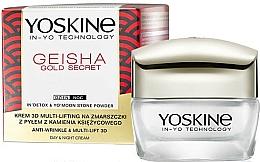 Parfums et Produits cosmétiques Crème de jour et nuit à la poussière de pierre de lune - Yoskine Geisha Gold Secret Anti-Wrinkle & Multi-Lift 3D Cream