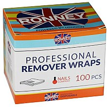 Parfums et Produits cosmétiques Feuilles en aluminium enlèvement de vernis à ongles de gel 100pcs - Ronney Professional Remover Wraps