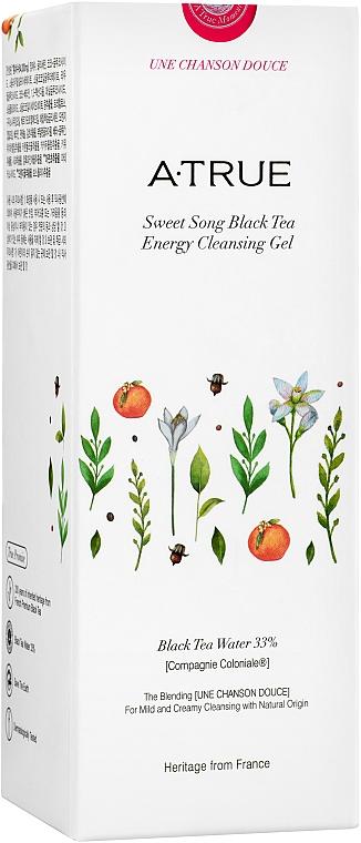 Gel nettoyant au thé noir pour visage - A-True Sweet Song Black Tea Energy Cleansing Gel — Photo N3