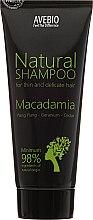 Parfums et Produits cosmétiques Shampooing naturel à l'huile de macadamia - Avebio Natural Shampoo For Thin And Delicate Hair