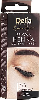 Gel henné pour sourcils, brun foncé - Delia Eyebrow Tint Gel ProColor 3.0 Dark Brown
