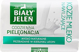 Parfums et Produits cosmétiques Savon naturel hypoallergénique au lait de chèvre et lin - Bialy Jelen Hypoallergenic Soap With Goat Milk