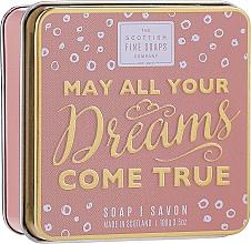 Parfums et Produits cosmétiques Savon de luxe en boîte métallique Que tous tes rêves deviennent réalité - Scottish Fine Soaps May All Your Dreams Come True Soap In A Tin