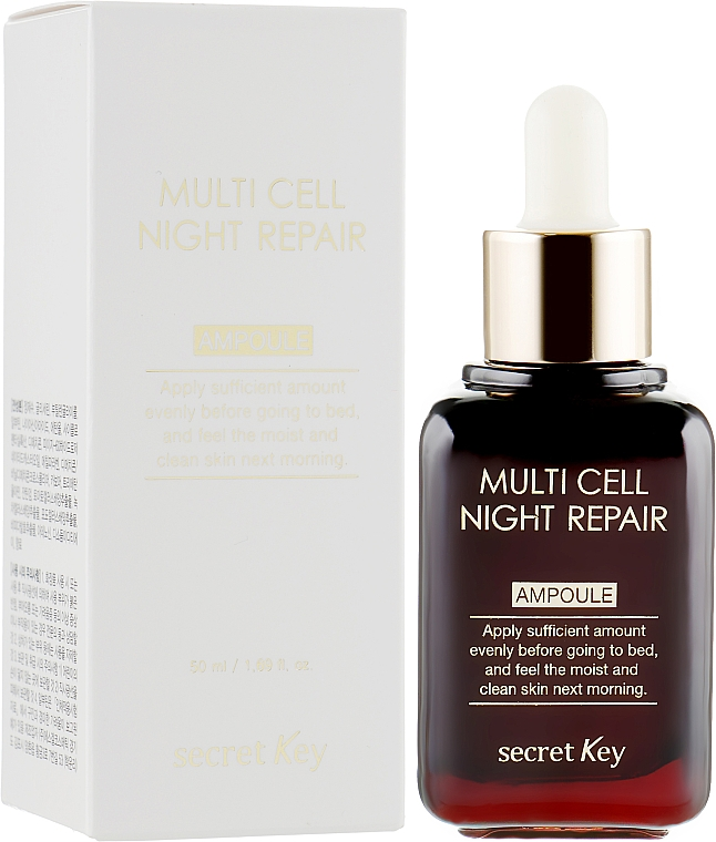 Sérum de nuit à l'extrait de raisin pour visage - Secret Key Multi Cell Night Repair Ampoule