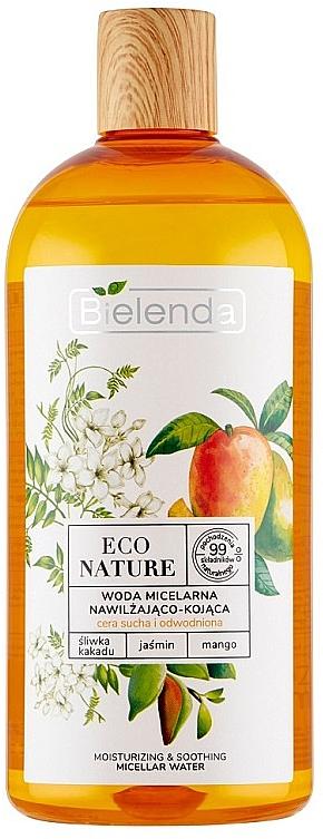 Eau micellaire bio au mangue et jasmin pour visage - Bielenda Eco Nature Moisturizing & Soothing Micellar Water