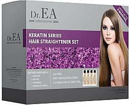 Parfums et Produits cosmétiques Coffret - Dr.EA Keratin Series Hair Straightener Set (hair/cr/130ml+shp/130ml+smp/130ml+mask/130ml)